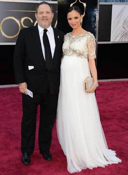 Oscars 2013: Academy Awards red carpet arrival pics: Harvey Weinstein and Georgina Chapman