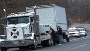 The driver of a box truck that police believed was involved Sunday in a hit-and-run crash in Williamsport fled from police after an officer pulled the truck over on Greencastle Pike just north of Williamsport, according to a Washington County Sheriff's Office spokesman.