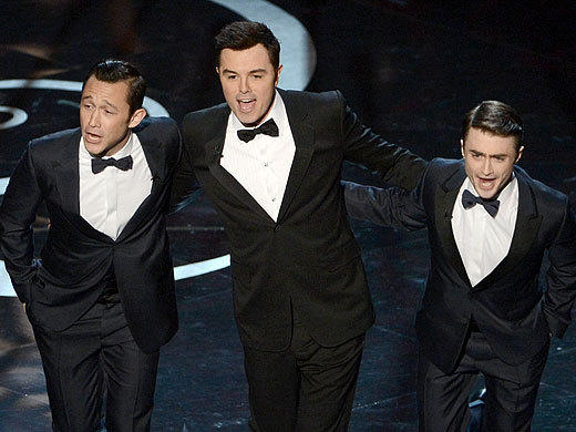 "Host Seth MacFarlane was wise to go with what works for him on the biggest stage of his career, even if that meant the opening of the Academy Awards felt a lot like a ""Family Guy"" episode, with its cutaways, musical numbers and random celebrity guest appearances.  <br><br> <i>-- <a href=""http://twitter.com/Zap2itRick"">Rick Porter</a>, <a href=""http://www/zap2it.com"">Zap2it</a></i>"