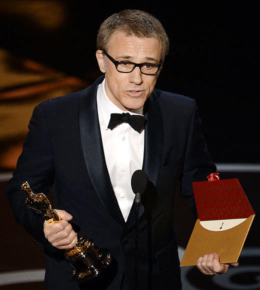 Oscars 2013: The best and worst moments: Its good to be Christoph Waltz. So far hes gone two-for-two for winning Oscars after starring in Quentin Tarantino movies, and he sounds like hes ready to keep the collaborations coming. My unlimited gratitude goes to Dr. King Schultz, that is of course to his creator and the creator of his awe-inspiring world, Quentin Tarantino, Waltz said during his acceptance speech.   -- Terri Schwartz, Zap2it