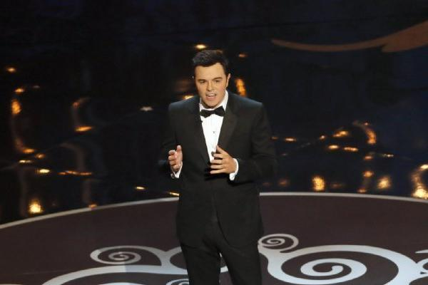 "Seth MacFarlane gets the Oscars started with ""We Saw Your Boobs."""