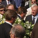 Colts Hall of Famer Art Donovan at Unitas' funeral