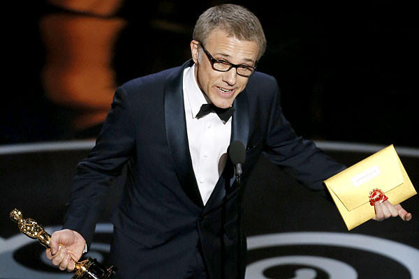 "Christoph Waltz, the supporting actor winner, talking to actor David Arquette, who asked about the German actor's choice of pope: ""I am a very adamant non-racist. I don't care whether the pope is black or white or whatever color. If we are non-racist, then we have to stay non-racist all the way."""