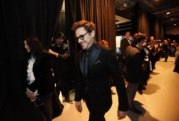 "Robert Downey Jr. was among ""The Avengers"" actors who presented two awards."