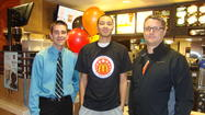Kendall Stephens – a student at St. Charles East High School and a 2013 McDonald's All American Nominee – was honored last week by Anthony Lardas, a St. Charles McDonald's Owner/Operator.