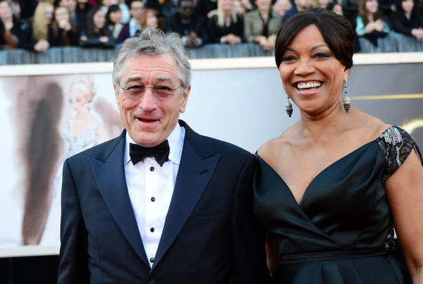 "Supporting actor nominee Robert De Niro (""Silver Linings Playbook"") and wife Grace Hightower on the red carpet."