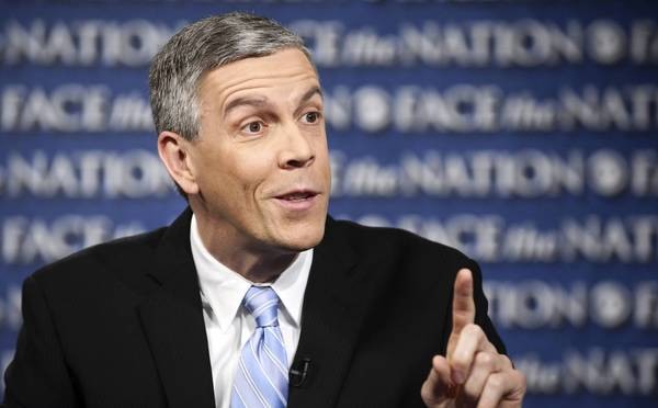 "Education Secretary Arne Duncan, speaking on ""Face the Nation,"" said as many as 40,000 teachers could lose their jobs if federal spending cuts take effect."