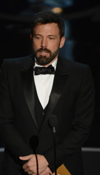 """Argo"" director and star Ben Affleck at the 2013 Oscars on Sunday night."