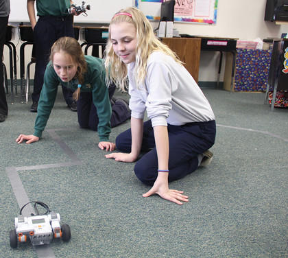 Robotics lessons at Roncalli