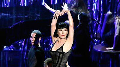 "Catherine Zeta-Jones performs a number from her hit 2002 movie ""Chicago"" at the 85th  Academy Awards, which honored musicals."