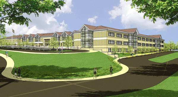 Artist rendering of the new middle school planned in the Northampton Area School District.