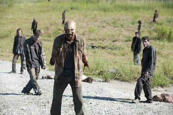 After the events of last week's episode, the prison is still overrun with Walkers.