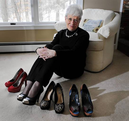 Lt. Governor Nancy Wyman is well known throughout the Capitol and the state for her fashionable and sometimes outrageous spiked high-heels, which she always wears in public.