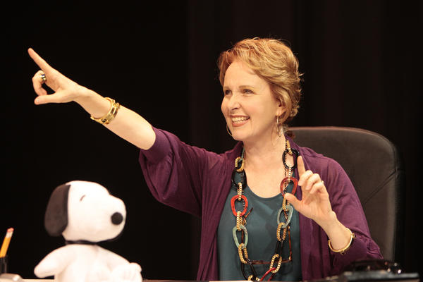 "Kate Burton in the WTF production of ""Beyond Therapy"""
