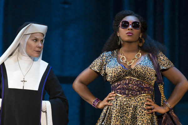 "Hollis Resnik and Ta'Rea Campbell star in the national tour of ""Sister Act"" coming to the Bushnell Center for the Performing Arts in Hartford in April."
