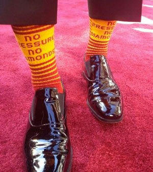 Sean Fine tweets a picture of his RG3 socks.