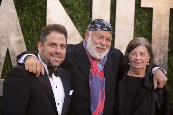 Producer Brett Ratner, left, and family.