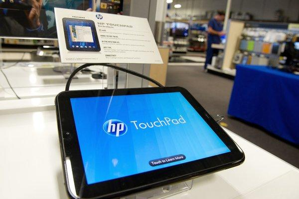 WebOS, the operating system used in HP's TouchPad tablet, has been sold to LG, which plans to use it in smart TVs.