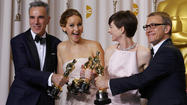 Oscars 2013: 'Argo,' actors Day-Lewis, Lawrence win