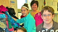 Glen Crest Students Donate Over 1,000 Articles of Clothing For Peoples Resource Center