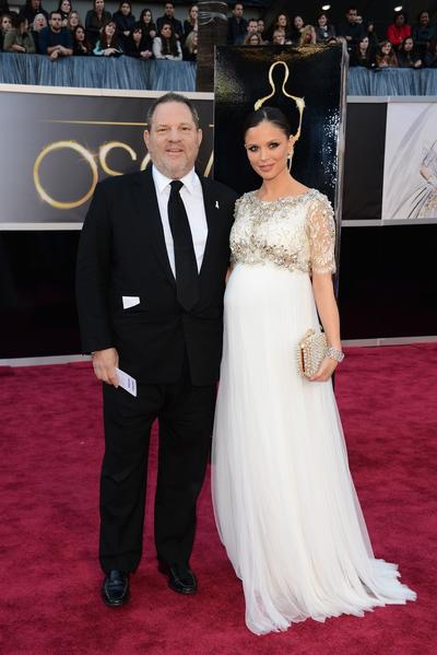 Weinstein Co. co-Chairman Harvey Weinstein and designer Georgina Chapman