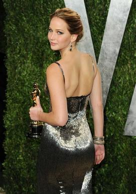 "Jennifer Lawrence, lead actress Oscar winner for ""Silver Linings Playbook."""