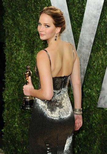 "Jennifer Lawrence, lead actress Oscar winner for ""Silver Linings Playbook."""