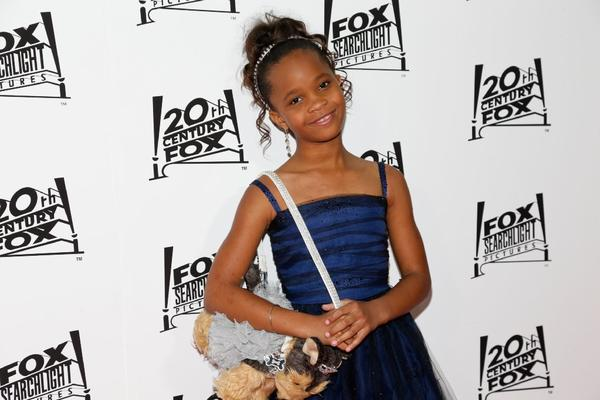 Actress Quvenzhane Wallis attends the 20th Century Fox And Fox Searchlight Pictures' Academy Award Nominees party on February 24, 2013 in Hollywood.