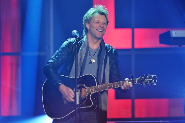 MILAN, ITALY - JANUARY 27:  Jon Bon Jovi performs at 'Che Tempo Che Fa' Italian TV Show on January 27, 2013 in Milan, Italy.  (Photo by Stefania D'Alessandro/Getty Images)