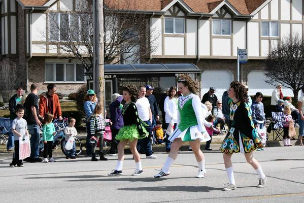 Students from an area dance school perform at the March 11, 2012, Tinley Park Irish Parade. Thirteen local dance schools participated in last year's parade. This year, the suburb's annual Irish Parade starts at 2 p.m. March 10.