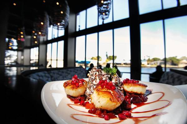 Pomegranate scallops
