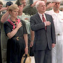 97, straw hat, pledge, Cindy McCain