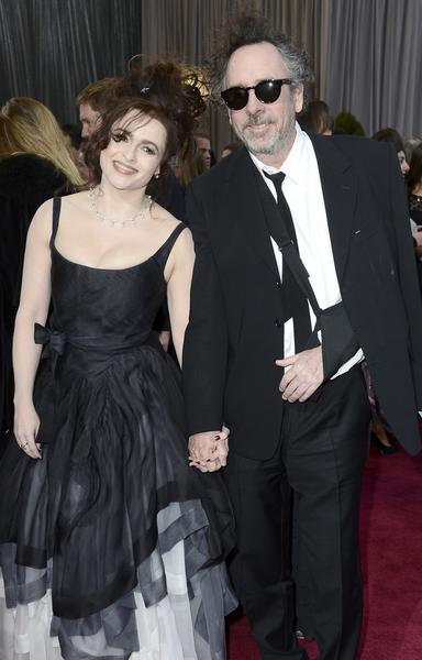 Actress Helena Bonham Carter and director Tim Burton