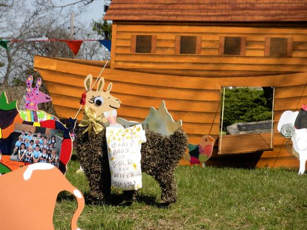 Holy Cross Catholic Church in Deerfield creates a wooden menagerie that represents each of the sponsored animals during its Lenten charity program.