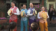 Boy bands get barbershop quartet treatment at Disneyland