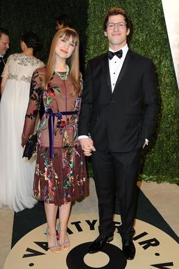 """SNL"" alum Andy Samberg, right, and Joanna Newsom."