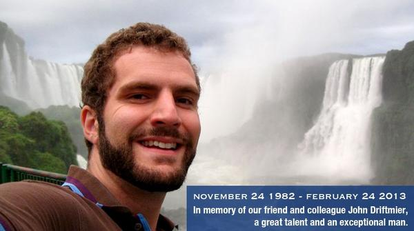 "John Driftmier, cameraman and director who was killed in a plane crash during filming of the TV series ""Dangerous Flights"" for Discovery Canada. This photo was posted on the website of Pixcom, the show's producer."