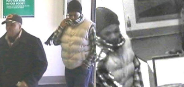 Surveillance photos of several men who tried to rob a bank in Alsip this morning.