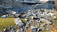 A Maryland State Highway Administration bridge official Tuesday will check the damage to an historic Funkstown bridge that had a portion of a wall knocked out Sunday after a car hit the bridge, a state highway spokeswoman said.