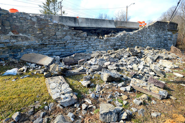 A Maryland State Highway Administration bridge official will be on hand Tuesday to check on a Funkstown bridge damaged in a car accident Sunday.