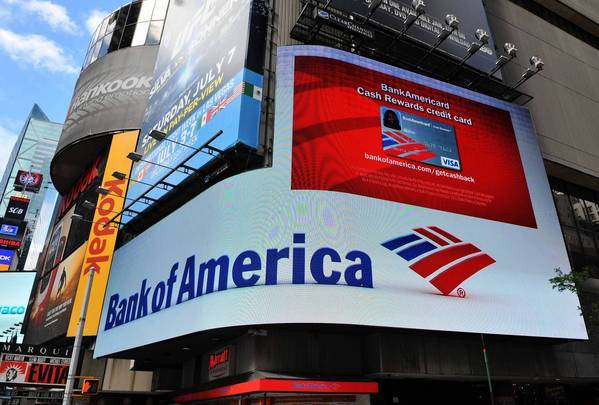 A Bank of America branch in New York's Times Square. A BofA customer discovered recurring payments on his credit card bill for a service he swears he never signed up for.