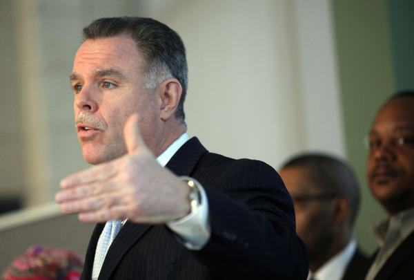Chicago Police Superintendent Garry McCarthy discusses the city's gun violence today. McCarthy held a press conference with follow police, neighborhood supporters and elected officials to display guns recently seized by Chicago police.