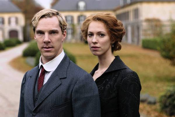 "Benedict Cumberbatch and Rebecca Hall star in ""Parade's End."""