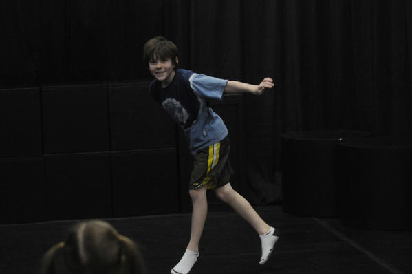 WEST HARTFORD--2/25/13- Will Kuhnly, 9, of West Hartford acts during Introduction to Theater at Connecticut Family Theatre in West Hartford Monday afternoon.