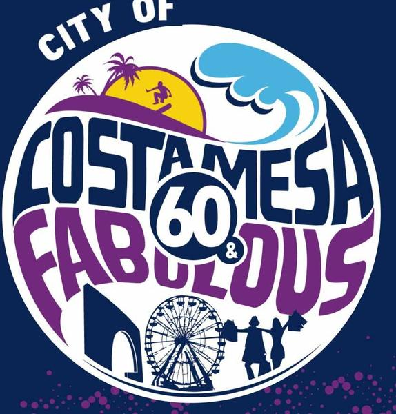 The logo for Costa Mesa's 60th anniversary celebration.