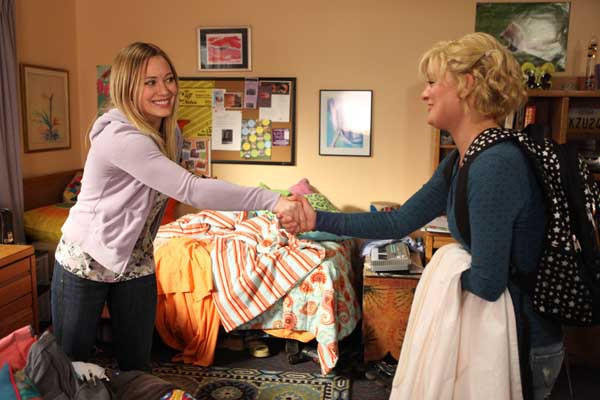 "Hilary Duff, left, guest-stars on ""Raising Hope"" on Fox. With Martha Plimpton"