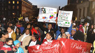 Thousands rally in support of Baltimore schools