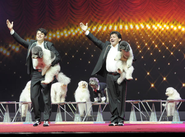 "Richard and Nicholas Olate's performing dogs will headline the ""America's Got Talent Live in Las Vegas"" show at the Palazzo Theatre."
