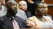 File of Tracy Martin and Sybrina Fulton, the parents of Trayvon Martin, listen to testimony during a bond hearing for George Zimmerman at the Seminole County Criminal Justice Center in Sanford, Florida