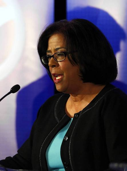 """Jan Perry told prospective voters: """"Not since Tom Bradley has there been an African American in this seat.... I would be the first woman, and I would be the first woman of color."""""""